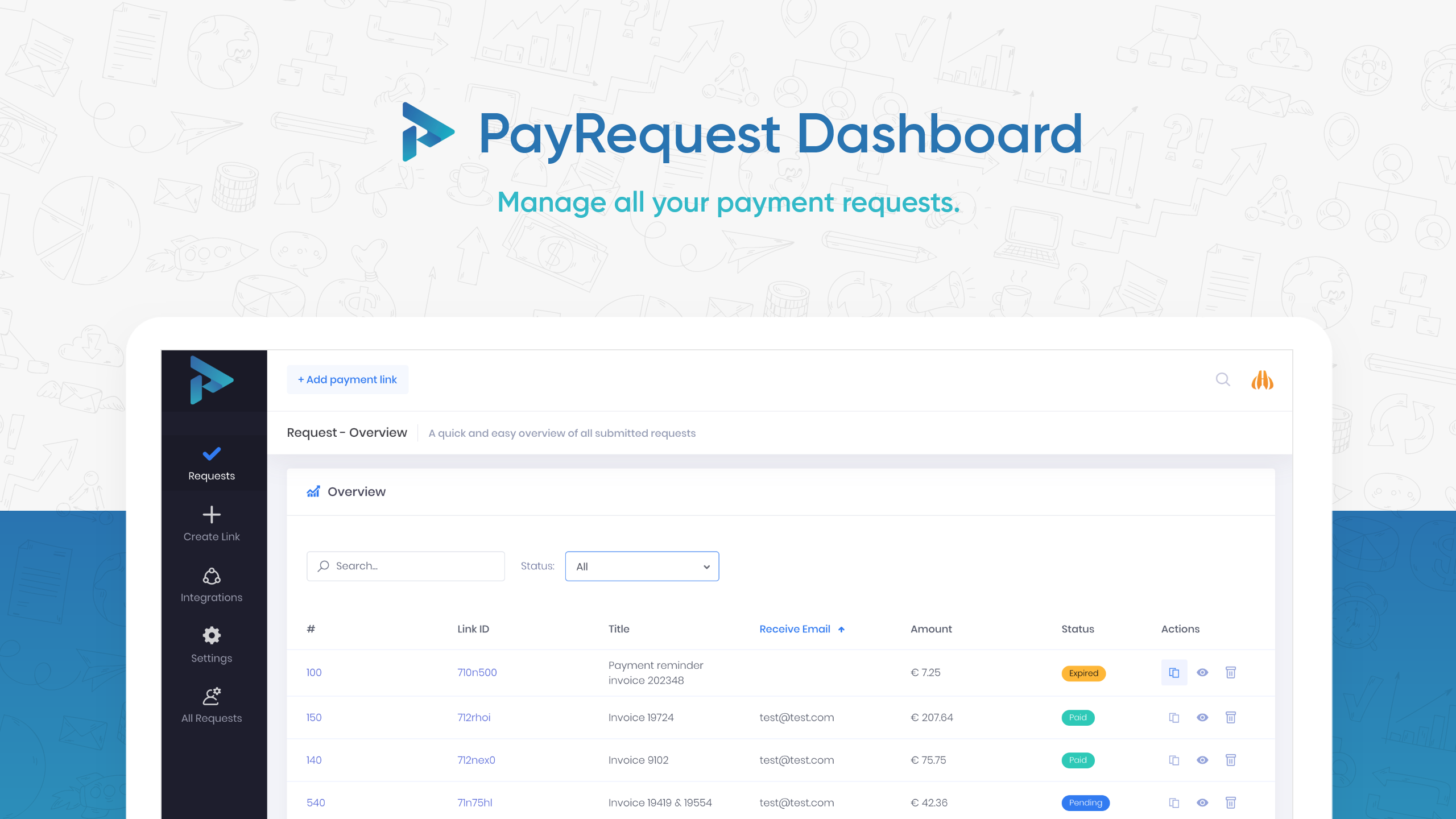 Payrequest Dashboard