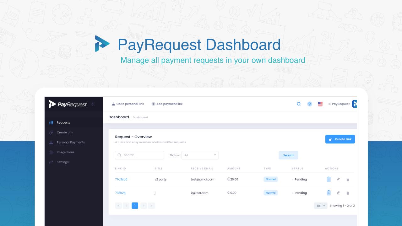 payrequest dashboard